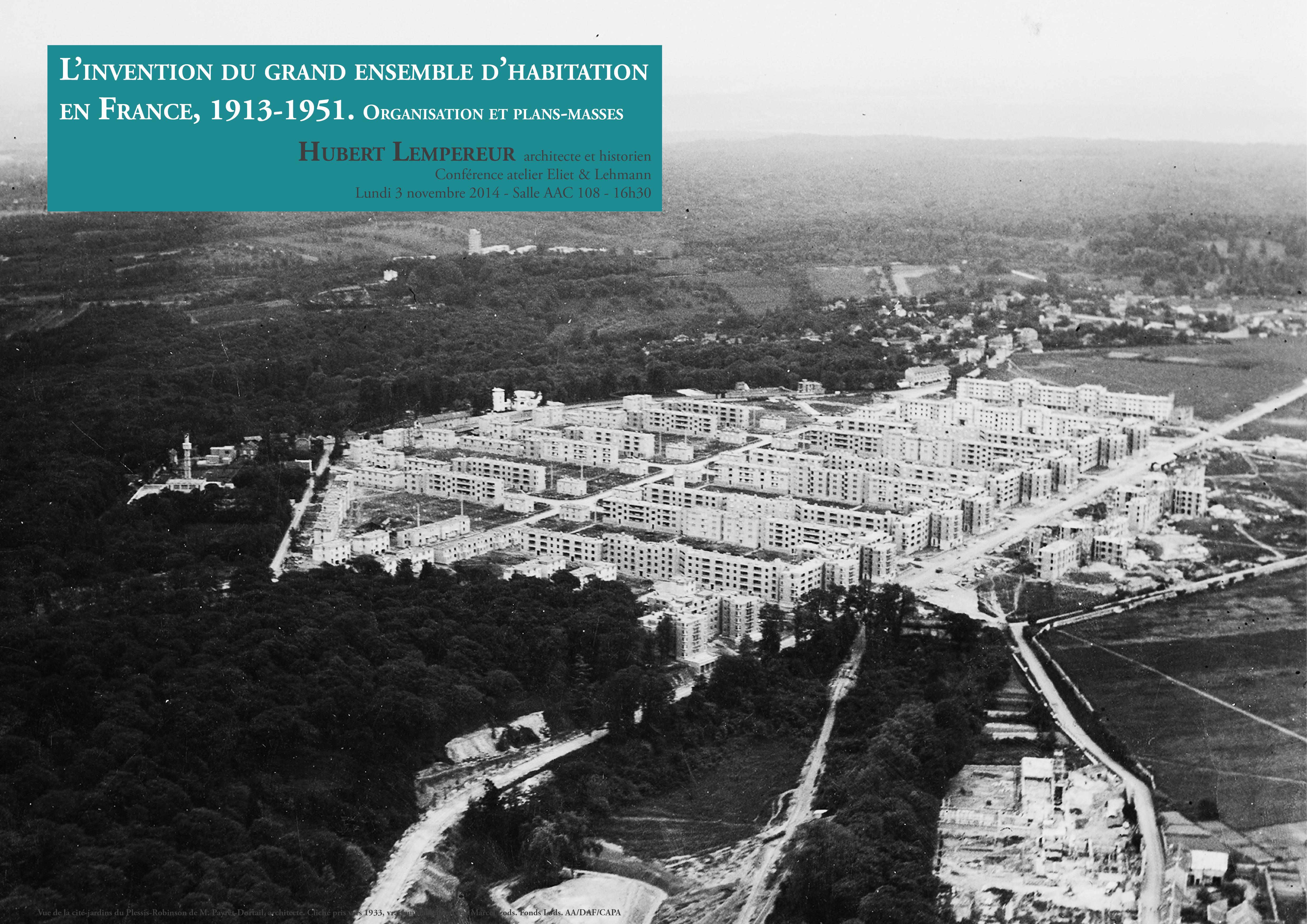 L Invention Du Grand Ensemble D Habitation En France 1913